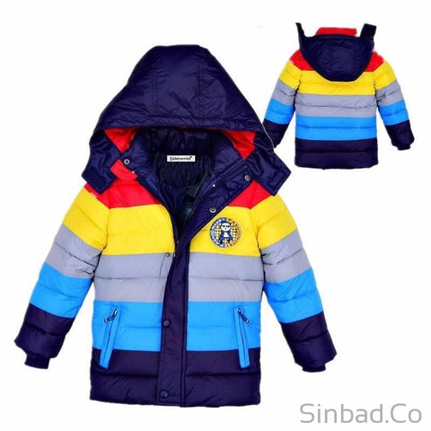 Colorful Children Hooded Jackets-Sinbadco