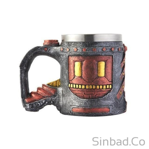 Cool Stainless Steel Skull Coffee Mug 3D Design-Mug-Sinbadco