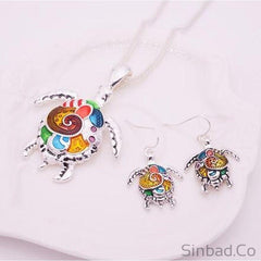 Crab And Turtle Jewelry Set
