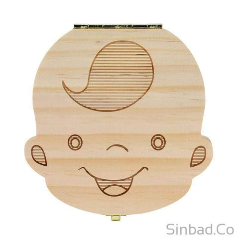 CREATIVE WOODEN TOOTH BOX TO SAVE BABY MILK TEETH – Save your baby's teeth and savor the memories.-Sinbadco