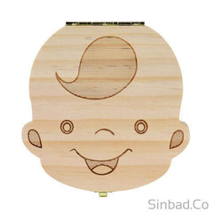 CREATIVE WOODEN TOOTH BOX TO SAVE BABY MILK TEETH – Save your baby's teeth and savor the memories.