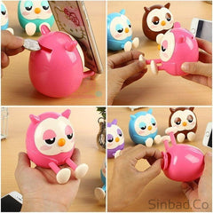 Cute Owl Phone Stand & Piggy Bank-Phone holder-Sinbadco