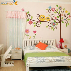 Cute Owls Wall Stickers Children