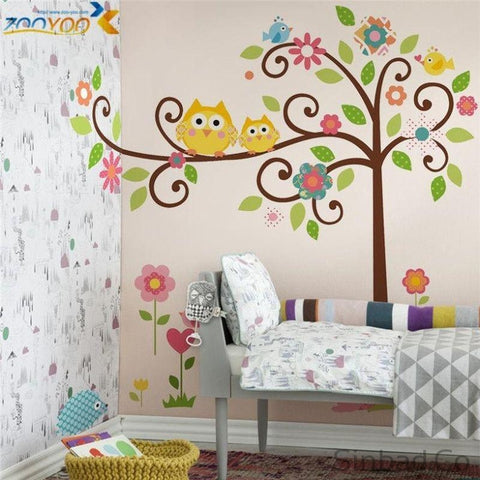 Cute Owls Wall Stickers Children-Stickers-Sinbadco