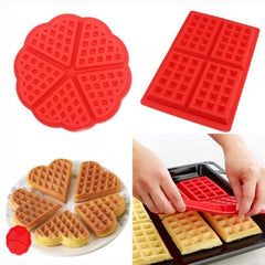 DIY Heart Shape Creative Silicone Muffin Cake Waffle Mold