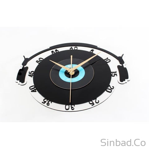 DJ retro Vinyl Records CD Wall clock-Sinbadco