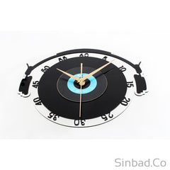 DJ retro Vinyl Records CD Wall clock