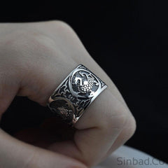 Dragon Punk Thai Silver Ring