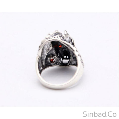 Dragon Thai Silver Vintage Ring-Rings-Sinbadco
