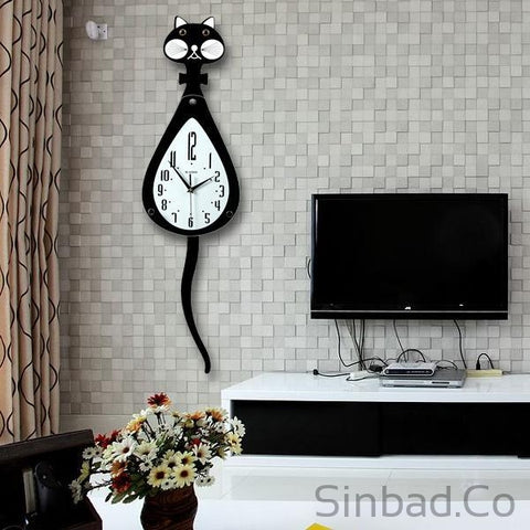 European Cat Tail clock-Sinbadco