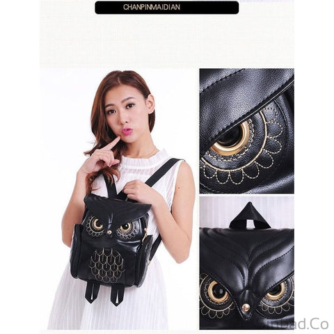 Fashionable Cute Owl Backpack-Backpack-Sinbadco