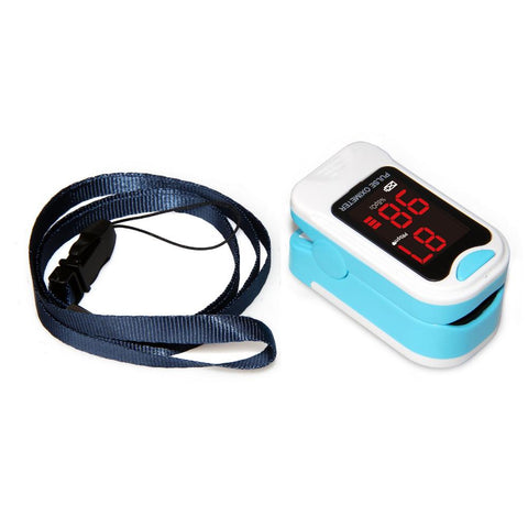 Fingertip Pulse Oximeter Blood Oxygen Saturation SPO2 Heart Rate Monitor-Sinbadco