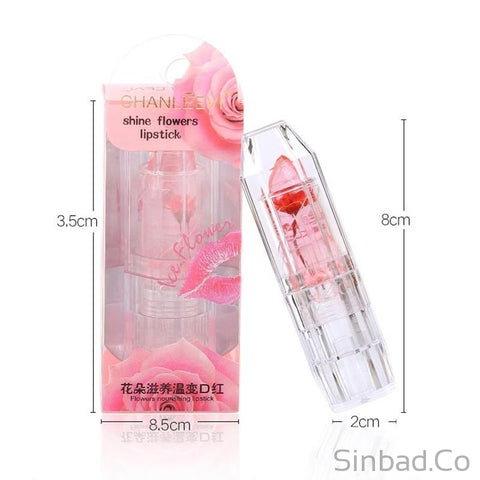 Flower Jelly Lipstick Temperature Change Lipsticks 6 Colors-lipstick-Sinbadco