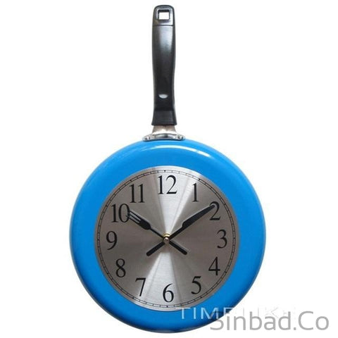 Frying Pan Kitchen Wall Clock-Sinbadco