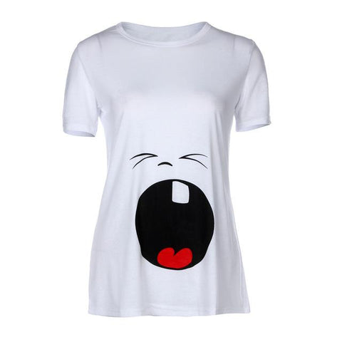 Funny Cartoon T-shirt For Pregnant-Sinbadco