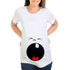 Image of Funny Cartoon T-shirt For Pregnant-Sinbadco