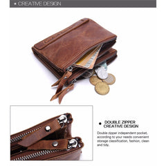 Genuine Crazy Horse Leather Wallet