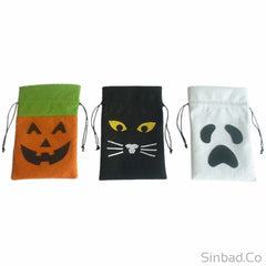 Gift Bag Canvas Sack Pumpkin Tricks