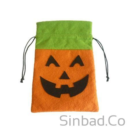 Gift Bag Canvas Sack Pumpkin Tricks-Bags-Sinbadco