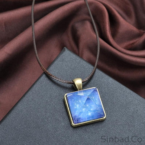 Glowing Crystal in the Dark Pyramid Magic Necklace-Sinbadco