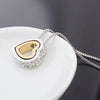 Image of Gold-Color Austrian Crystal Luxury Brand Heart Necklaces & Pendants-Sinbadco