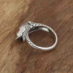 Goldfish Retro Thai Silver Ring