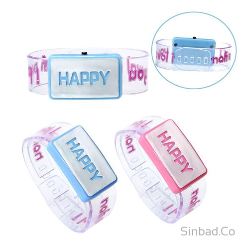 Happy Led Luminous Bracelet-Sinbadco