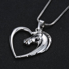 Heart horse love Pendant Necklace
