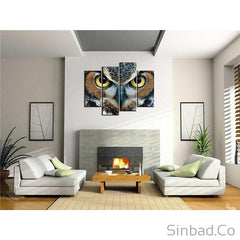 HIGH QUALITY OWL EYES WALL CANVAS ART