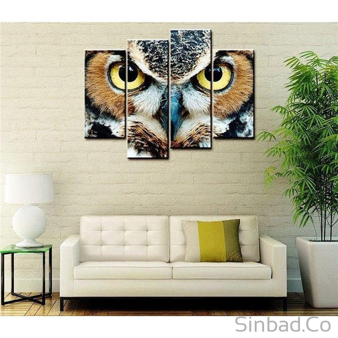 HIGH QUALITY OWL EYES WALL CANVAS ART-Canvas Printings-Sinbadco