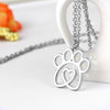 Image of Hollow heart pet memorial charm necklace 9 style animal love gift-Sinbadco