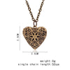 Image of Hollow Love Heart DIY Openable Secret Message Locket Necklace Pendant 6 Colors-Sinbadco