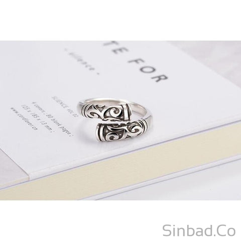Hot Retro Thai Silver Ring-Rings-Sinbadco