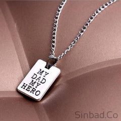 I Love You My Dad My Hero Necklace