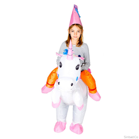 Inflatable Unicorn Costume With Hat For Kids -Adults-costume-Sinbadco