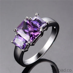 July Birthstone Purple Ring