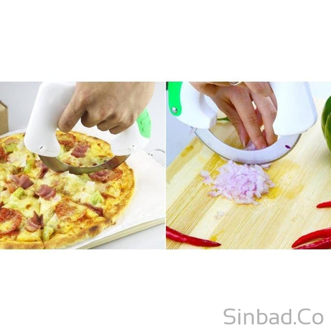 Kitchen Handy Stainless Steel Vegetable Anti-slip Handle & Round Sharp Knife-Sinbadco
