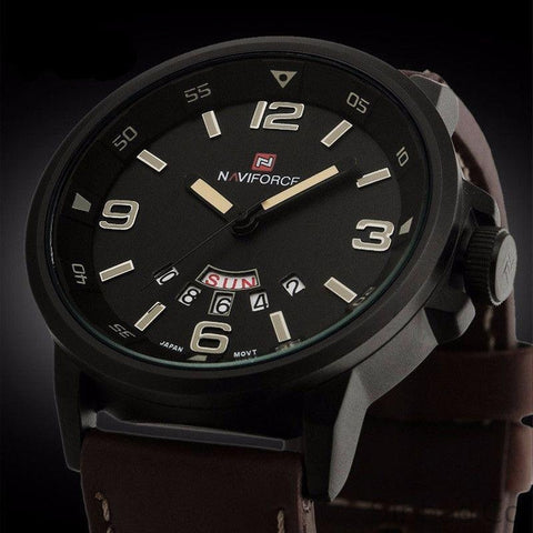 Leather Strap Sports Watch-WATCHES-Sinbadco