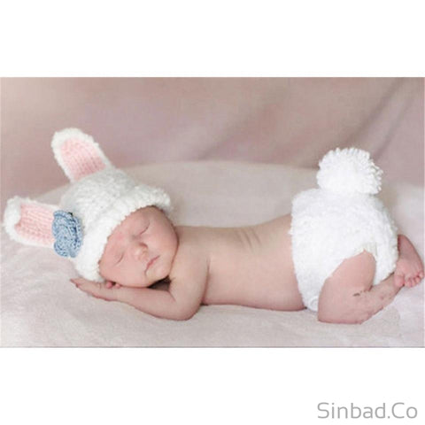 Lovely Animal Designs Crochet Baby Hat And Pants Set-Hat-Sinbadco