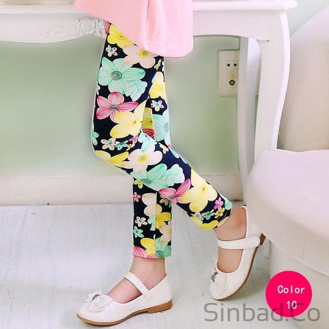 Lovely Flower legging for 2-14 girls-Sinbadco