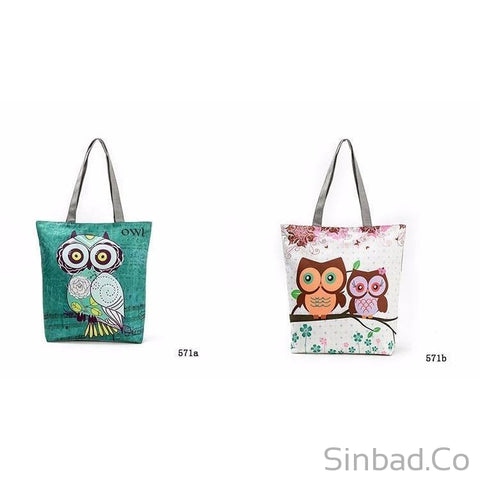Lovely Owl Casual Tote-Bags-Sinbadco