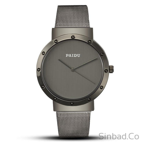 Luxury Design Quartz Steel Mesh Watch-Sinbadco