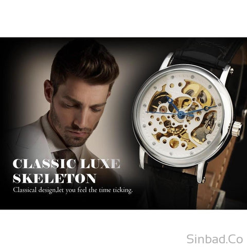 Luxury Mechanical Skeleton Watch-WATCHES-Sinbadco