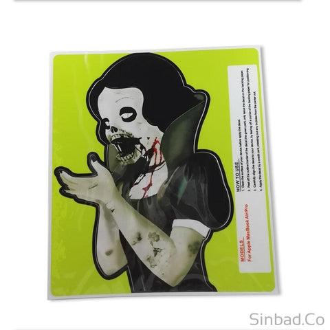 Macbook Snow White-Ghost Cartoon Skin Vinyl Sticker-Stickers-Sinbadco