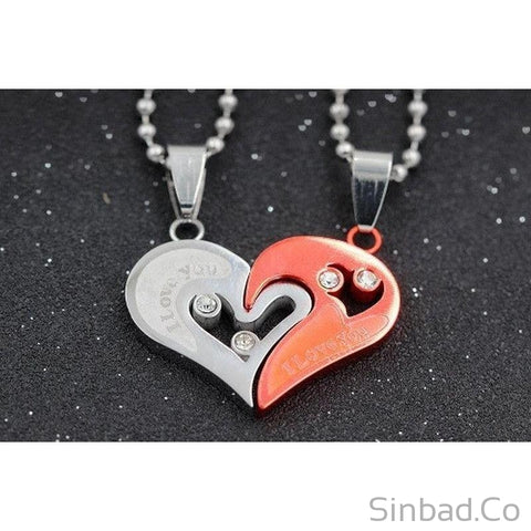Magnificent Black Heart Love Necklaces-Necklaces-Sinbadco