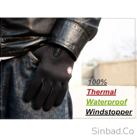 Men's Nice Touch Black Leather Gloves-Sinbadco