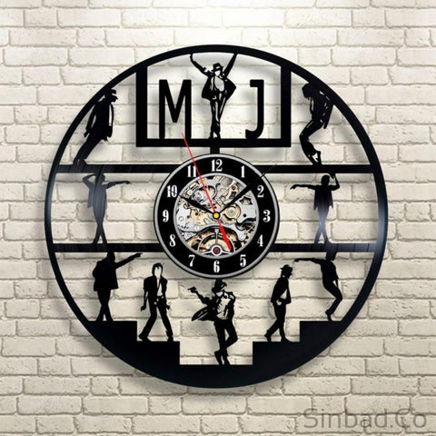 Michael Jackson Pop King Vinyl Record Clock-Sinbadco
