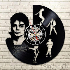 Michael Jackson Vinyl Record Creative Clock