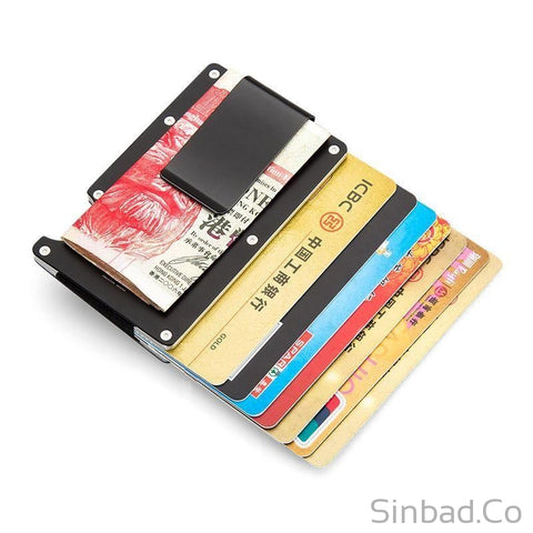 Minimalist Wallet Aluminum Safe Card Holder-wallet-Sinbadco