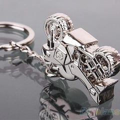 Motorcycle Silver Key Ring Chain